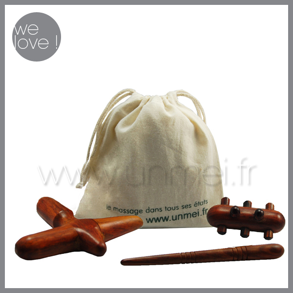 kit accessoires massage tha&iuml;